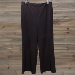 CHAPS Chocolate Brown Pants Trousers Work Size 10